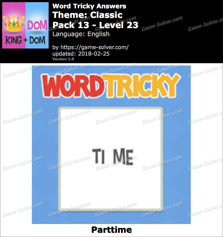 Word Tricky Classic Pack 13-Level 23 Answers