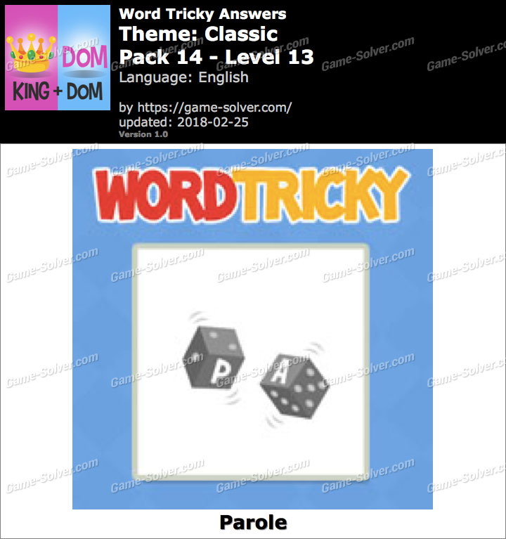 Word Tricky Classic Pack 14-Level 13 Answers