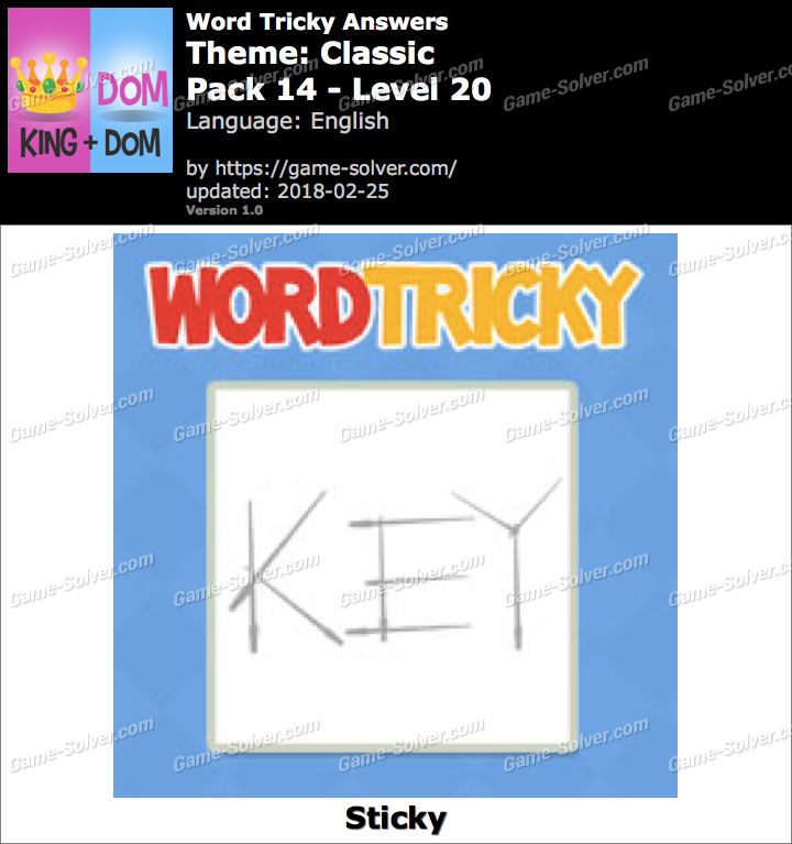 Word Tricky Classic Pack 14-Level 20 Answers
