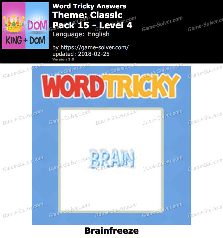 Word Tricky Classic Pack 15-Level 4 Answers