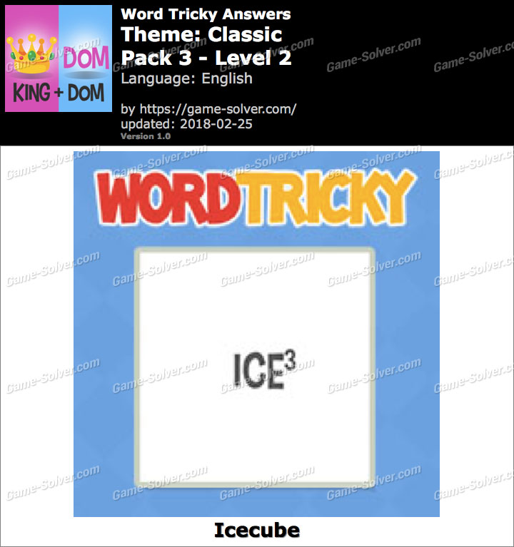 Word Tricky Classic Pack 3-Level 2 Answers