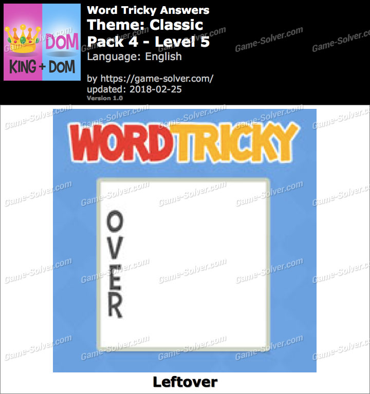 Word Tricky Classic Pack 4-Level 5 Answers