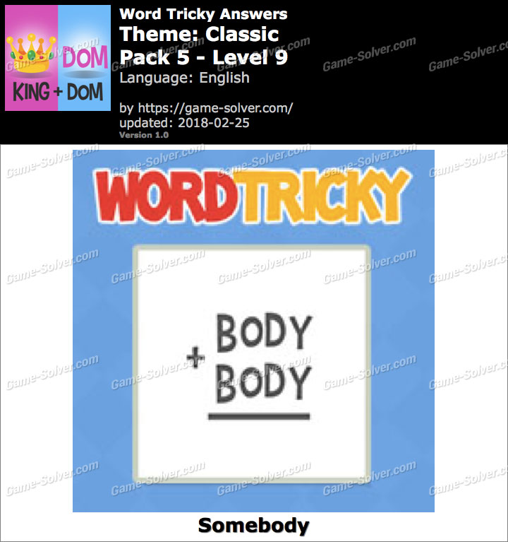 Word Tricky Classic Pack 5-Level 9 Answers