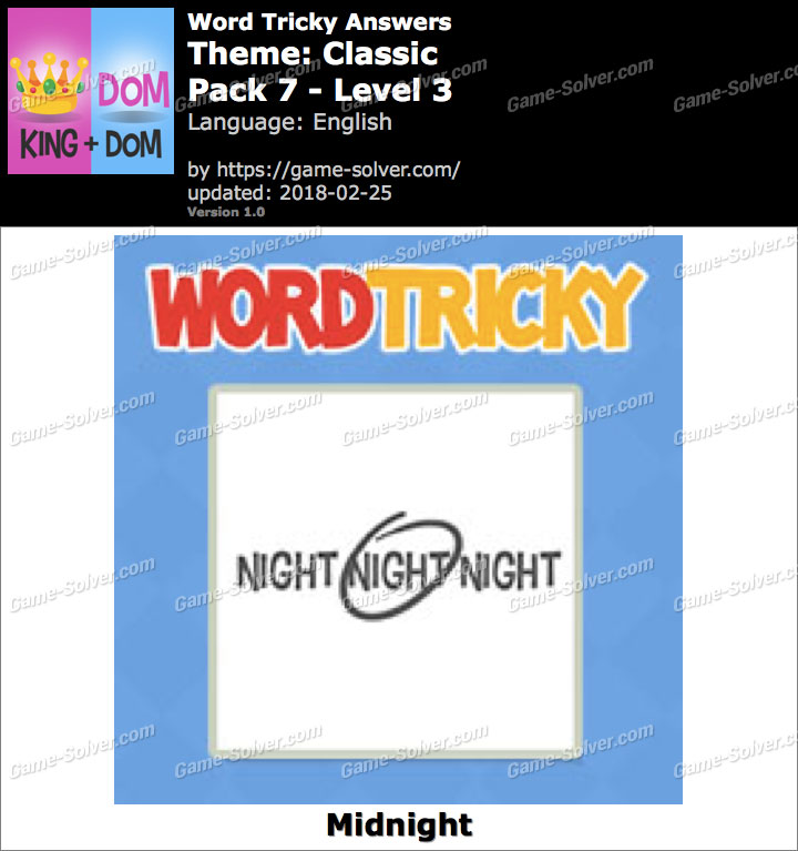 Word Tricky Classic Pack 7-Level 3 Answers