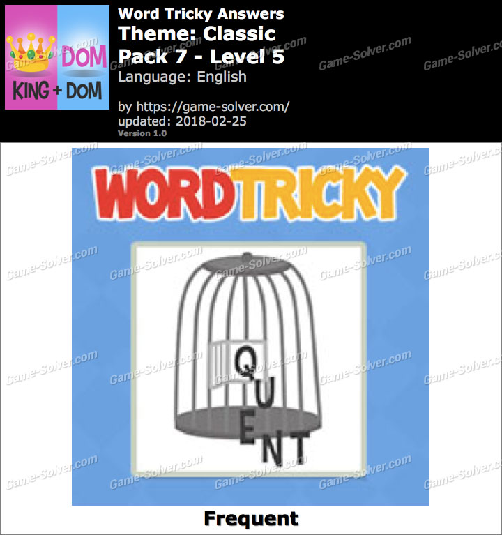 Word Tricky Classic Pack 7-Level 5 Answers