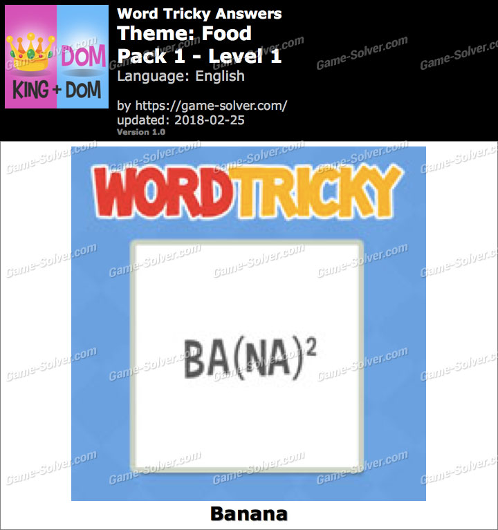 Word Tricky Food Pack 1-Level 1 Answers