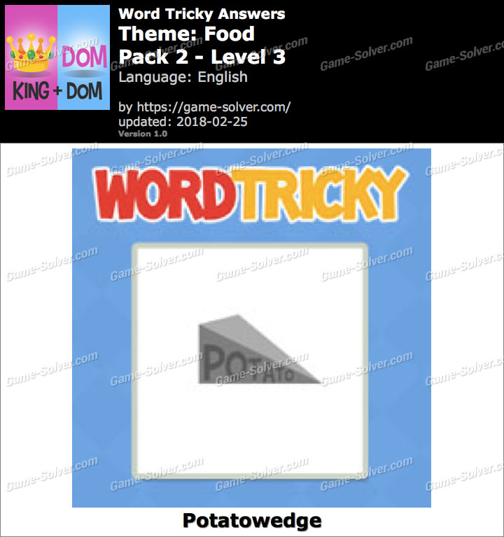 Word Tricky Food Pack 2-Level 3 Answers