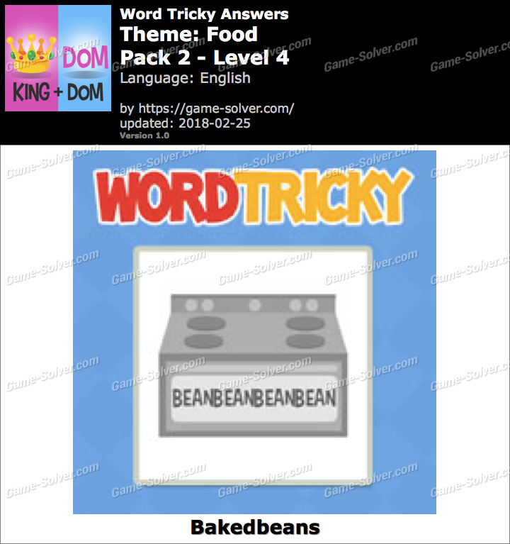 Word Tricky Food Pack 2-Level 4 Answers