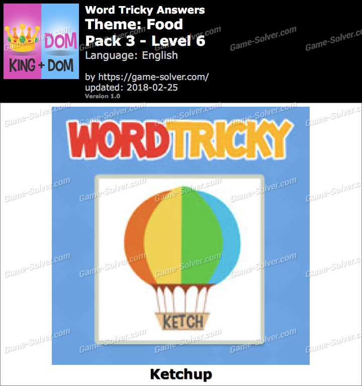 Word Tricky Food Pack 3-Level 6 Answers