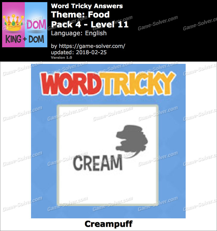 Word Tricky Food Pack 4-Level 11 Answers