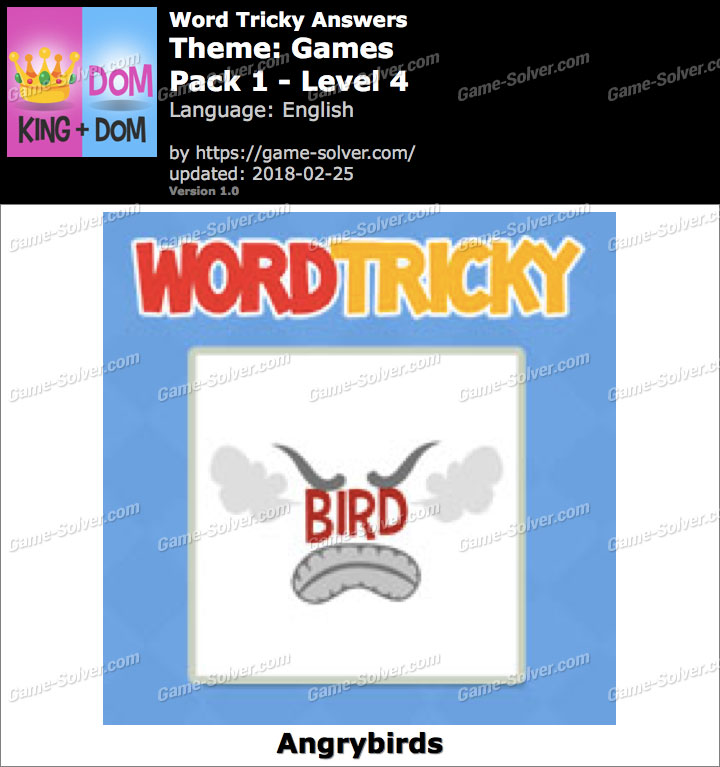 Word Tricky Games Pack 1-Level 4 Answers