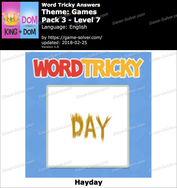 Word Tricky Games Pack 3-Level 7 Answers