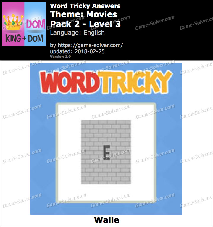 Word Tricky Movies Pack 2-Level 3 Answers