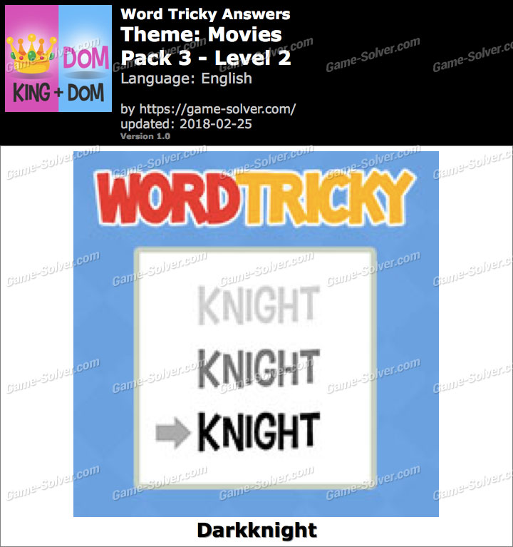 Word Tricky Movies Pack 3-Level 2 Answers