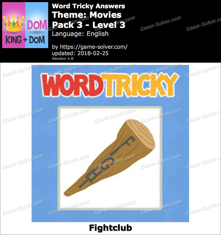 Word Tricky Movies Pack 3-Level 3 Answers