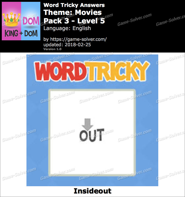 Word Tricky Movies Pack 3-Level 5 Answers