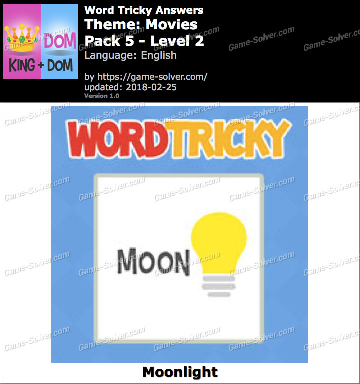 Word Tricky Movies Pack 5-Level 2 Answers