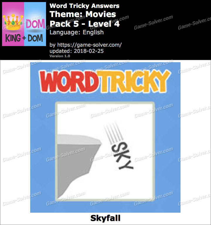 Word Tricky Movies Pack 5-Level 4 Answers