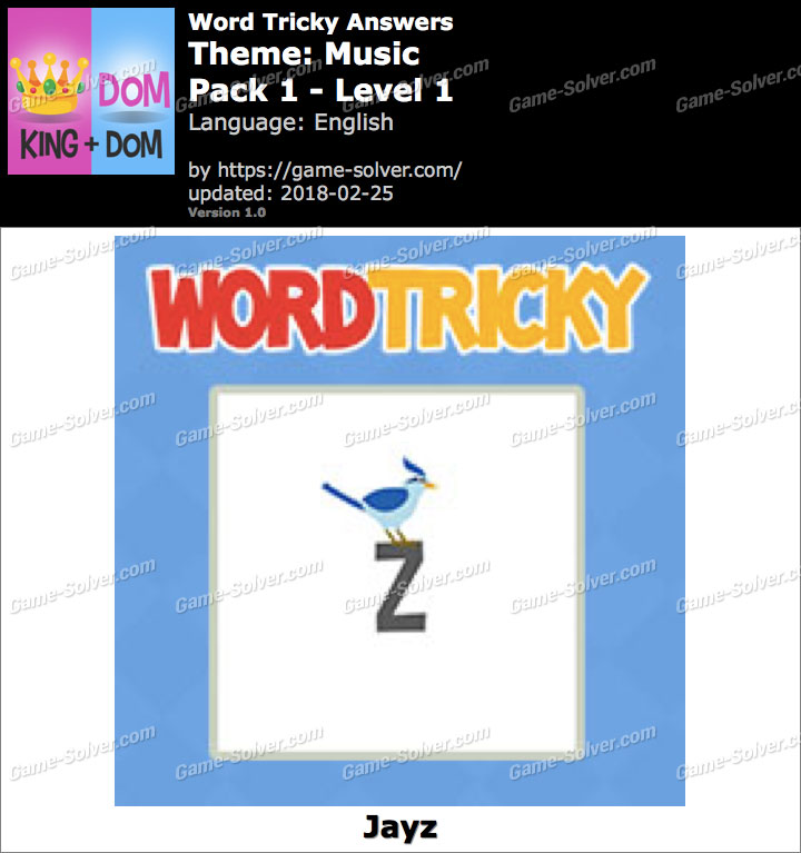 Word Tricky Music Pack 1-Level 1 Answers