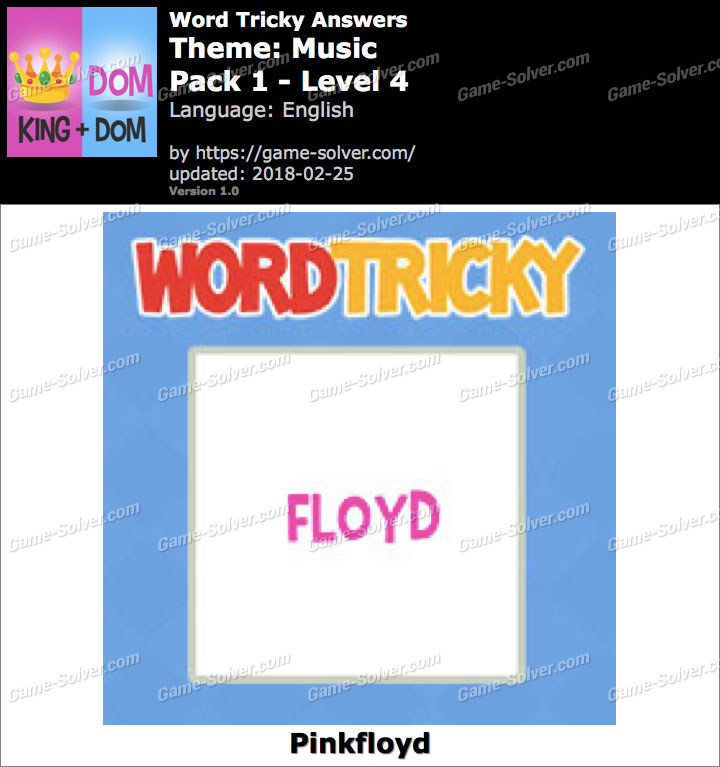 Word Tricky Music Pack 1-Level 4 Answers