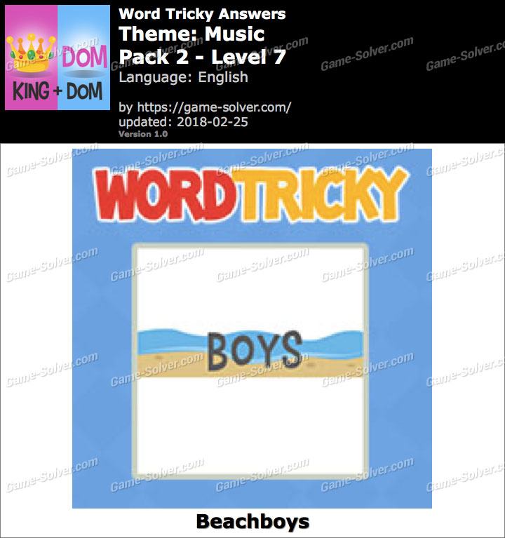 Word Tricky Music Pack 2-Level 7 Answers