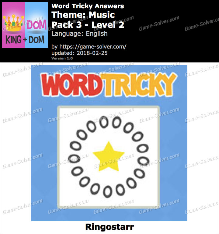 Word Tricky Music Pack 3-Level 2 Answers
