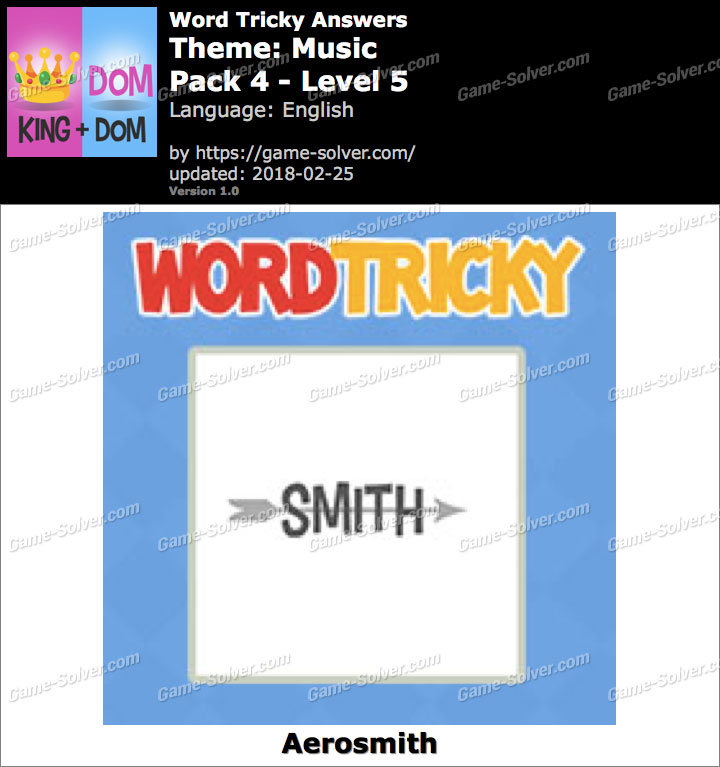 Word Tricky Music Pack 4-Level 5 Answers