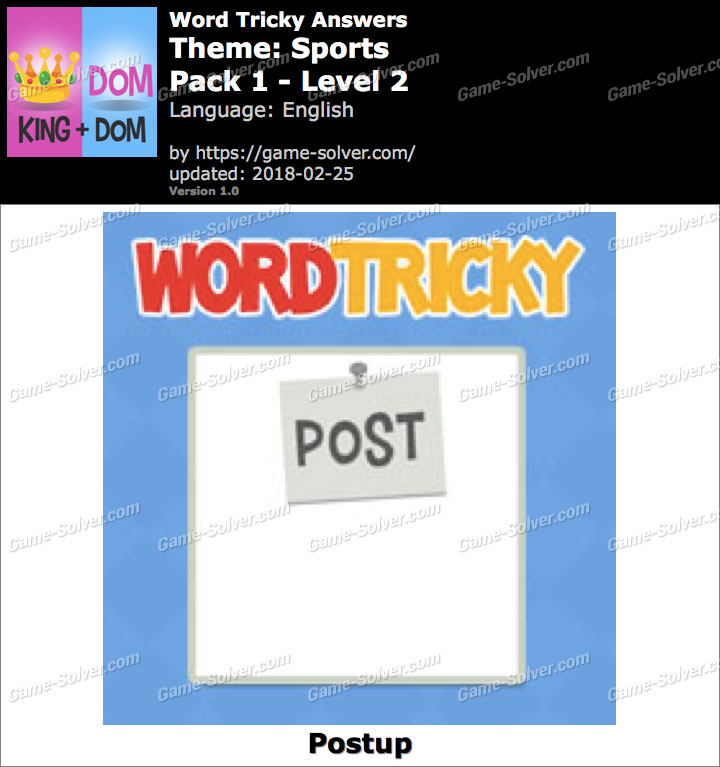 Word Tricky Sports Pack 1-Level 2 Answers