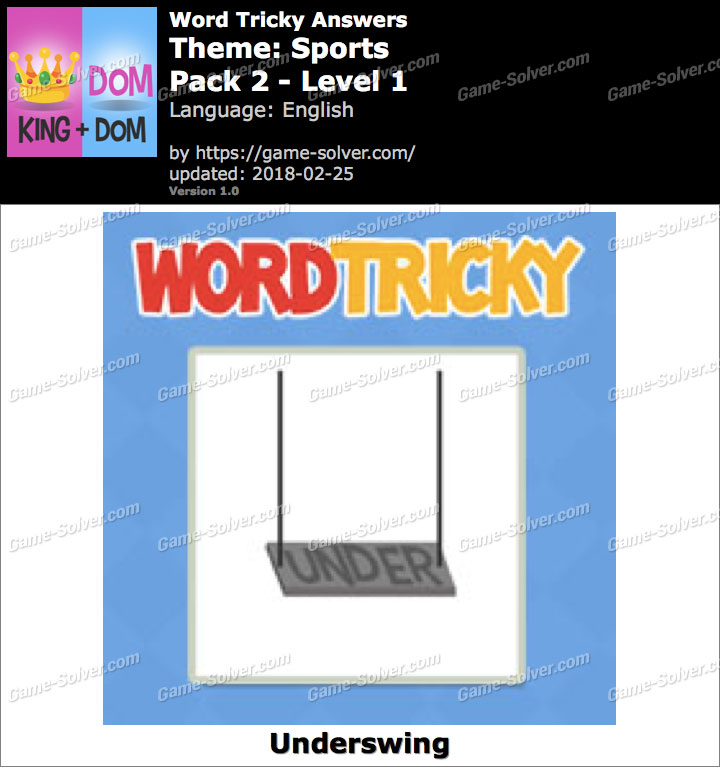 Word Tricky Sports Pack 2-Level 1 Answers