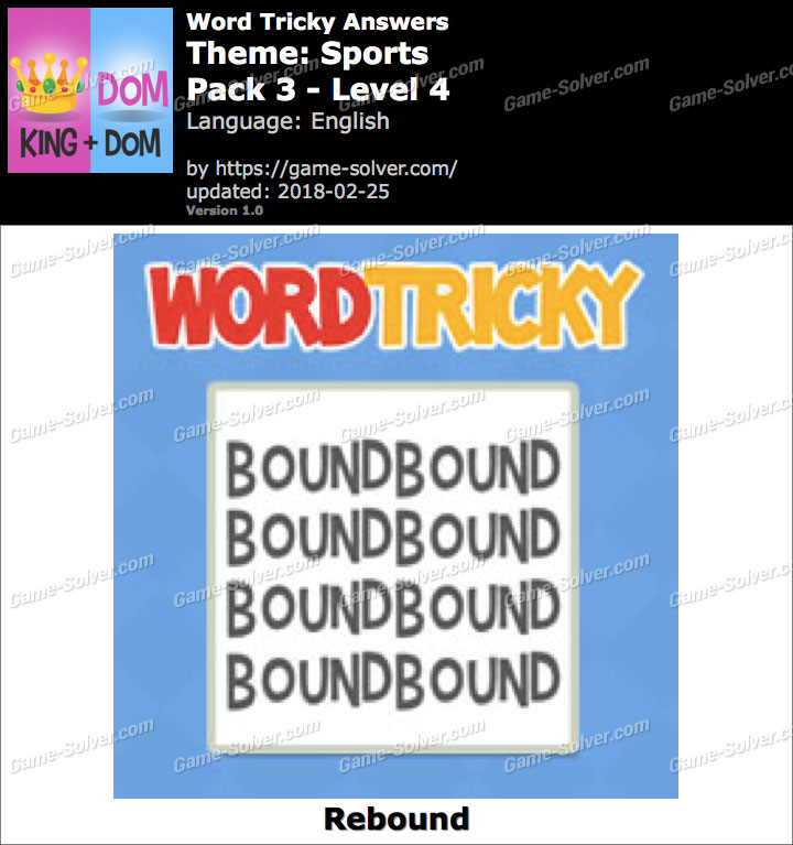 Word Tricky Sports Pack 3-Level 4 Answers