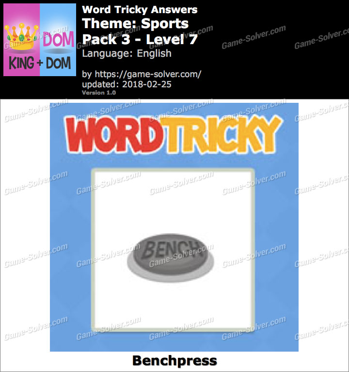 Word Tricky Sports Pack 3-Level 7 Answers