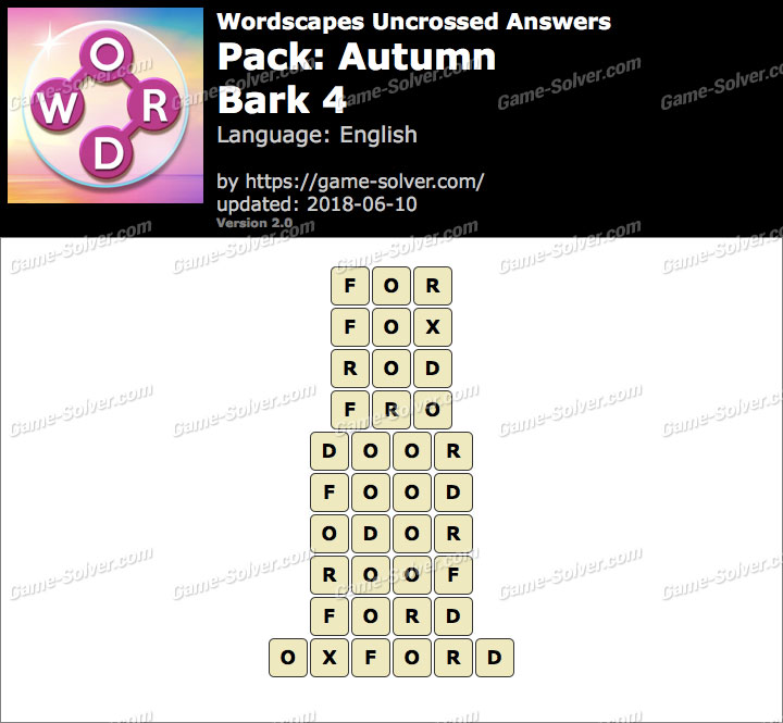Wordscapes Uncrossed Autumn-Bark 4 Answers