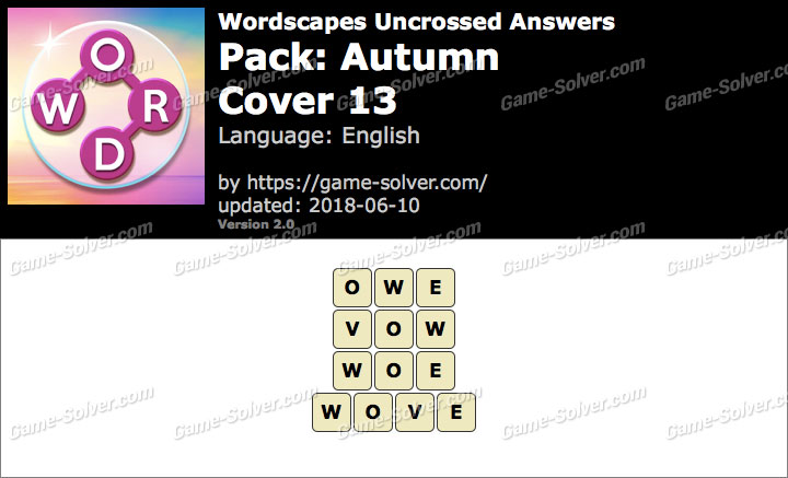 Wordscapes Uncrossed Autumn-Cover 13 Answers