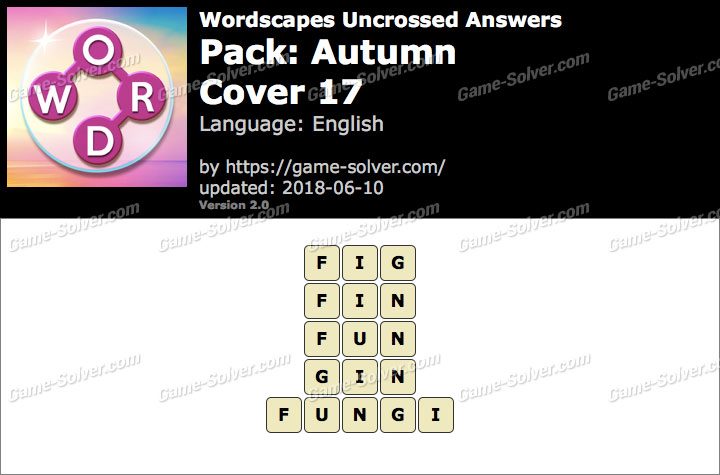 Wordscapes Uncrossed Autumn-Cover 17 Answers