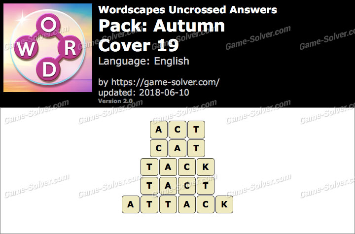 Wordscapes Uncrossed Autumn-Cover 19 Answers