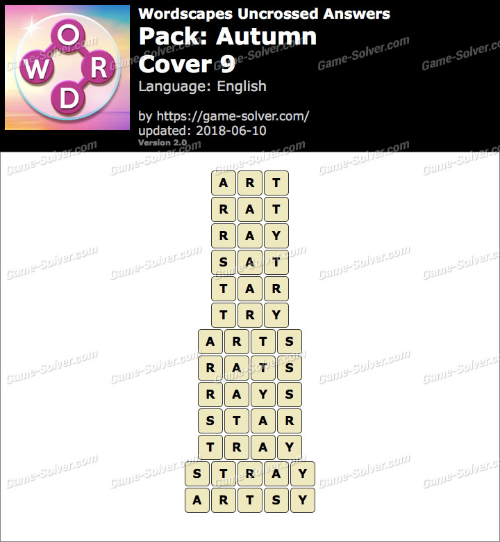 Wordscapes Uncrossed Autumn-Cover 9 Answers