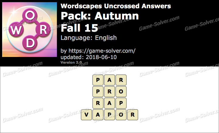 Wordscapes Uncrossed Autumn-Fall 15 Answers
