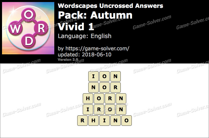 Wordscapes Uncrossed Autumn-Vivid 1 Answers