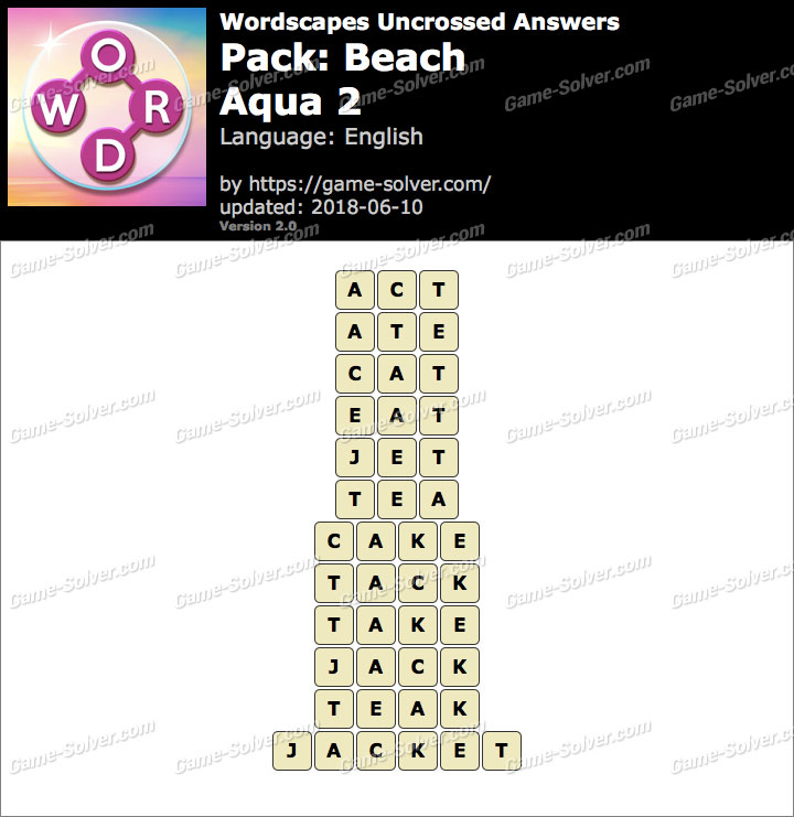 Wordscapes Uncrossed Beach-Aqua 2 Answers