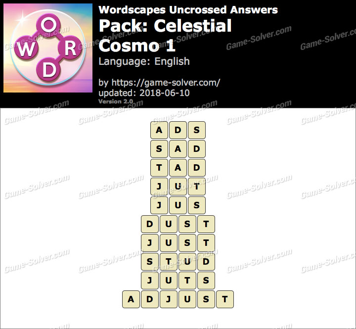 Wordscapes Uncrossed Celestial-Cosmo 1 Answers
