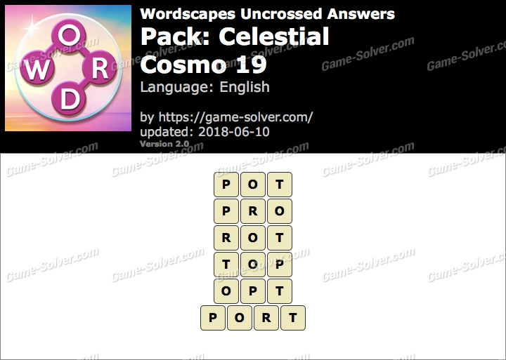 Wordscapes Uncrossed Celestial-Cosmo 19 Answers