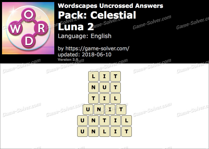 Wordscapes Uncrossed Celestial-Luna 2 Answers