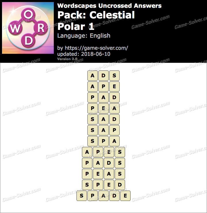 Wordscapes Uncrossed Celestial-Polar 1 Answers