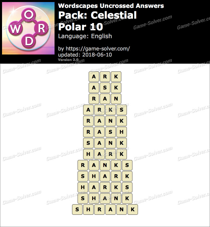 Wordscapes Uncrossed Celestial-Polar 10 Answers