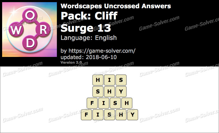 Wordscapes Uncrossed Cliff-Surge 13 Answers