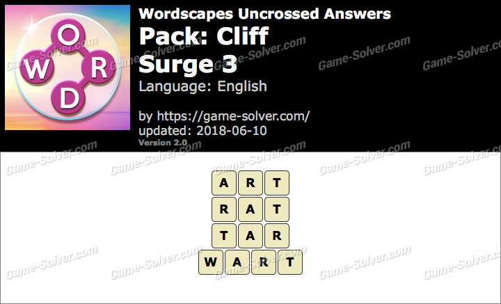 Wordscapes Uncrossed Cliff-Surge 3 Answers
