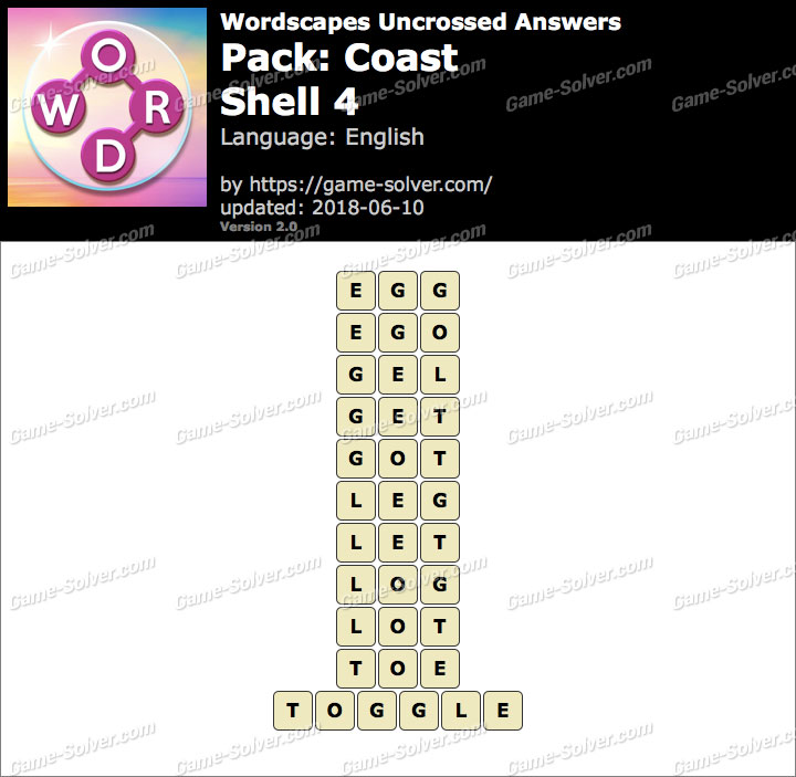 Wordscapes Uncrossed Coast-Shell 4 Answers