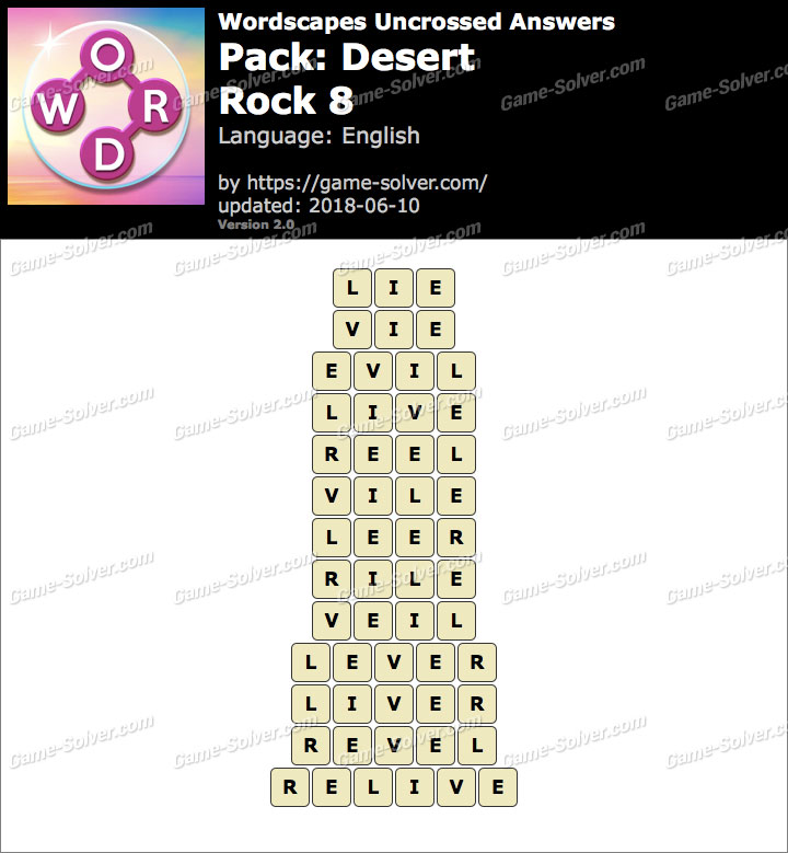 Wordscapes Uncrossed Desert-Rock 8 Answers