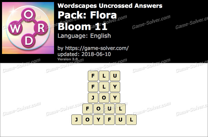 Wordscapes Uncrossed Flora-Bloom 11 Answers