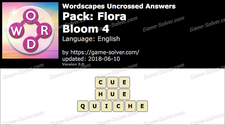Wordscapes Uncrossed Flora-Bloom 4 Answers
